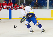 23 September 2011:  Action during a Men's pre-season Hockey game between the University of British Columbia Thunderbirds and the Southern Alberta Institute of Technology at Mitchell Arena, University of British Columbia, Vancouver, BC, Canada.  Final Score:  UBC    SAIT  ****(Photo by Bob Frid/UBC Athletics) 2011 All Rights Reserved****