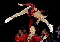 25.03.2010, Torino Palavela, Turin, ITA, ISU World Figure Skating Championships Turin 2010, im Bild, Paarlauf Qing Pang and Jia Tong (CHN) gold medal. EXPA Pictures © 2010, PhotoCredit: EXPA/ InsideFoto/ Perottino / SPORTIDA PHOTO AGENCY
