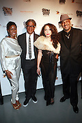 l to r: Tange Murray, Elvis Mitchell, Collete Blanchard and Danny Simmons at The Rush Philanthropic 2nd Annual Gold Rush Awards Presented by Danny Simmons and Russell Simmons which was held at The Red Bull Space on March 18, 2010 in New York City. Terrence Jennings/Retna..The Gold Rush Awards celebrates and recognizes trailblazers in the Arts Industry who shape contemporary arts and culture across creative disciplines.