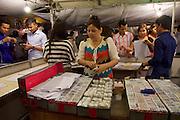 Phnom Penh, Cambodia. Night Market. Lottery.