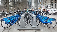 Citi Bikes on Central Park South