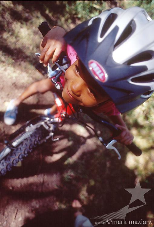 Rejina on mountain bike