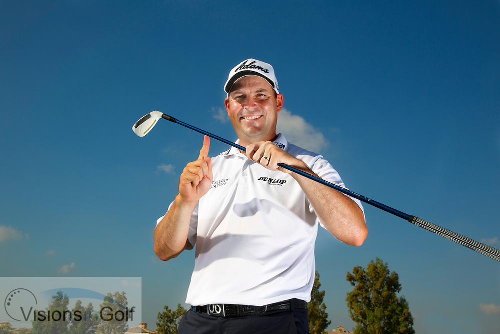David Howell Adams No. 1 photoshoot Dubai 2013<br /> Picture Credit:  Mark Newcombe / visionsingolf.com