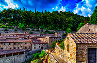 """Convent of the Cells - Founded by St. Francis in Cortona""…<br />