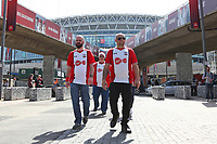 Football - 2017 / 2018 FA Cup - Semi Final: Chelsea vs. Southampton<br /> <br /> Some Southampton fans walking down Wembley Way<br /> <br /> COLORSPORT/SHAUN BOGGUST