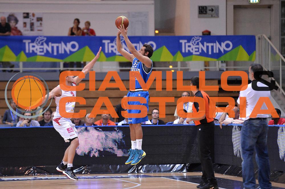 DESCRIZIONE : Trento Basket Cup 2013 Italia Polonia<br /> GIOCATORE : Marco Belinelli <br /> CATEGORIA : Controcampo Three points<br /> SQUADRA : Nazionale Italia Uomini Maschile<br /> EVENTO : Trento Basket Cup 2013 Italia Polonia<br /> GARA : Italia Polonia<br /> DATA : 09/08/2013<br /> SPORT : Pallacanestro<br /> AUTORE : Agenzia Ciamillo-Castoria/GiulioCiamillo<br /> Galleria : FIP Nazionali 2013<br /> Fotonotizia : Trento Basket Cup 2013 Italia Polonia<br /> Predefinita :
