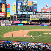 A panoramic view of Citi Field during the New York Mets V San Francisco Giants Baseball game at Citi Field, Queens, New York. 21st April 2012. Photo Tim Clayton.