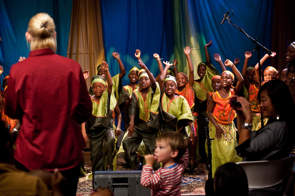 The 34th African Children's Choir records live in Perf 1 in Sirius XM's Eckington Studios.