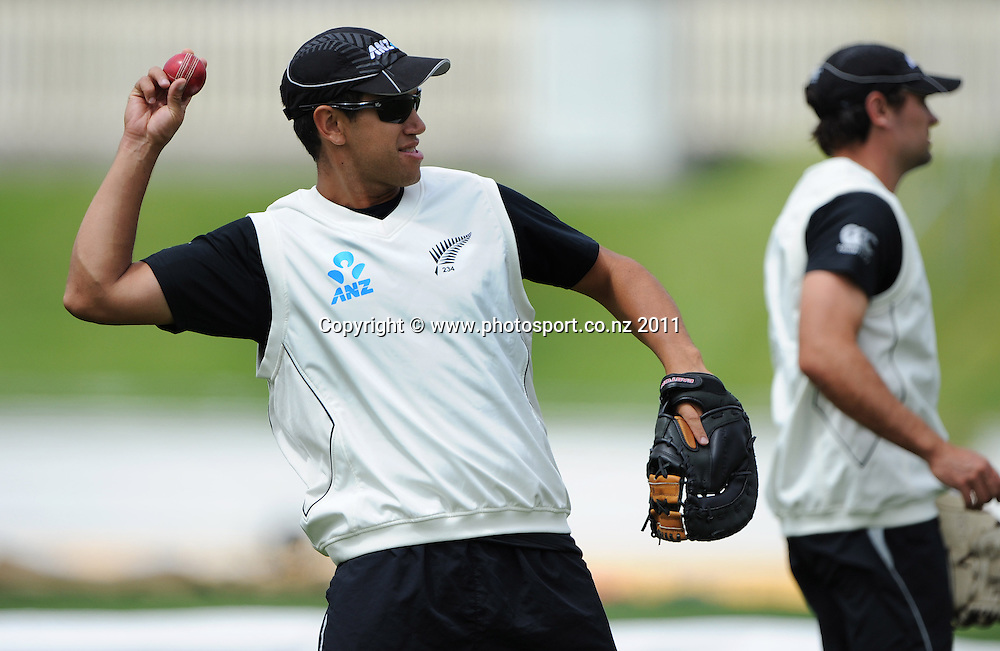 Ross Taylor ahead of the second cricket test match versus Australia in Hobart. Wednesday 7 December 2011. Photo: Andrew Cornaga/Photosport.co.nz