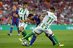 August 20, 2017 - Barcelona, Spain - Nahuel Leiva, Narvaez and Leo Messi during La Liga match between F.C. Barcelona v Alaves, in Barcelona, on September 10, 2016. Photo: Edi Capmany/Urbanandsport/Nurphoto  (Credit Image: © Urbanandsport/NurPhoto via ZUMA Press)