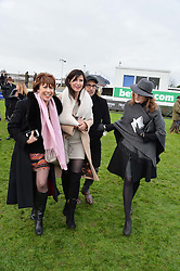 Left to right, KATHY LETTE, RONNI ANCONA, STANLEY TUCCI and FELICITY BLUNT at the 2015 Hennessy Gold Cup held at Newbury Racecourse, Berkshire on 28th November 2015.
