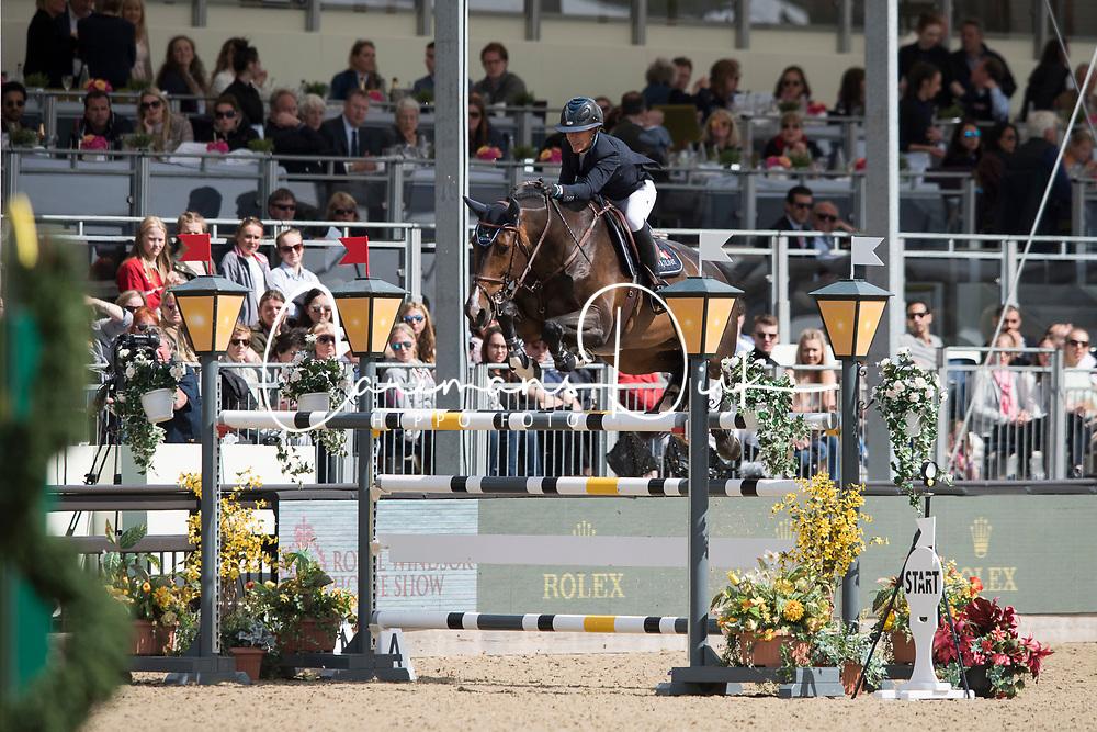 Hough Lauren, USA, Adare<br /> Rolex Grand Prix Jumping<br /> Royal Windsor Horse Show<br /> &copy; Hippo Foto - Jon Stroud