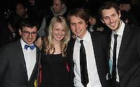 The Inbetweeners cast; Simon Bird; Emily Head; Joe Thomas; Blake Harrison British Comedy Awards, O2 Arena, London, UK, 22 January 2011: Contact: Ian@Piqtured.com +44(0)791 626 2580 (Picture by Richard Goldschmidt)
