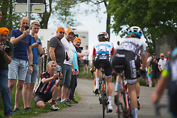 Spectators cheer on the riders at the top of La Redoute during Liege-Bastogne-Liege - a 136 km road race, between Bastogne and Ans on April 22, 2018, in Wallonia, Belgium. (Photo by Balint Hamvas/Velofocus.com)