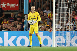 August 7, 2017 - Barcelona, Spain - Jasper Cillessen of FC Barcelona during the 2017 Joan Gamper Trophy football match between FC Barcelona and Chapecoense on August 7, 2017 at Camp Nou stadium in Barcelona, Spain. (Credit Image: © Manuel Blondeau via ZUMA Wire)