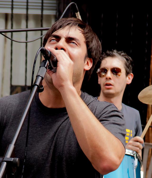 Singer, at the 7th Heaven Street Fair in Brooklyn.