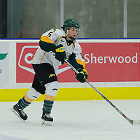 2nd year forward Jaycee Magwood (5) of the Regina Cougars in action during the Women's Hockey Home Game on November 26 at Co-operators arena. Credit: Arthur Ward/Arthur Images