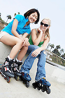 Girls Wearing Rollerblades