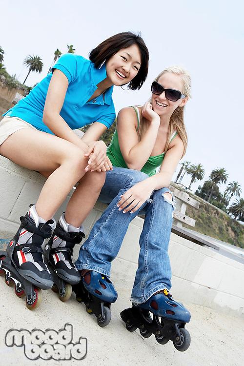 Girls Wearing Rollerblades