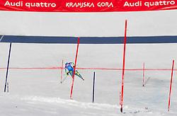 SKUBE Maticof Slovenia competes during 1st Run of Men's Slalom - Pokal Vitranc 2012 of FIS Alpine Ski World Cup 2011/2012, on March 11, 2012 in Vitranc, Kranjska Gora, Slovenia.  (Photo By Vid Ponikvar / Sportida.com)