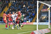 Milton Keynes Dons Defender, Dean Lewington (3) scores to make it 2-1 goal during the EFL Sky Bet League 2 match between Bury and Milton Keynes Dons at the JD Stadium, Bury, England on 12 January 2019.