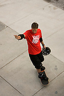ORLANDO, FL -  JANUARY 28:  Skateboarder Tony Hawk waves to fans as he prepares to start his Grand Jam at Universal Orlando January 28, 2006 in Orlando, Florida. Hawk and his crew performed two shows on Saturday and are scheduled to perform two more on Sunday(Photo by Matt Stroshane/Getty Images)