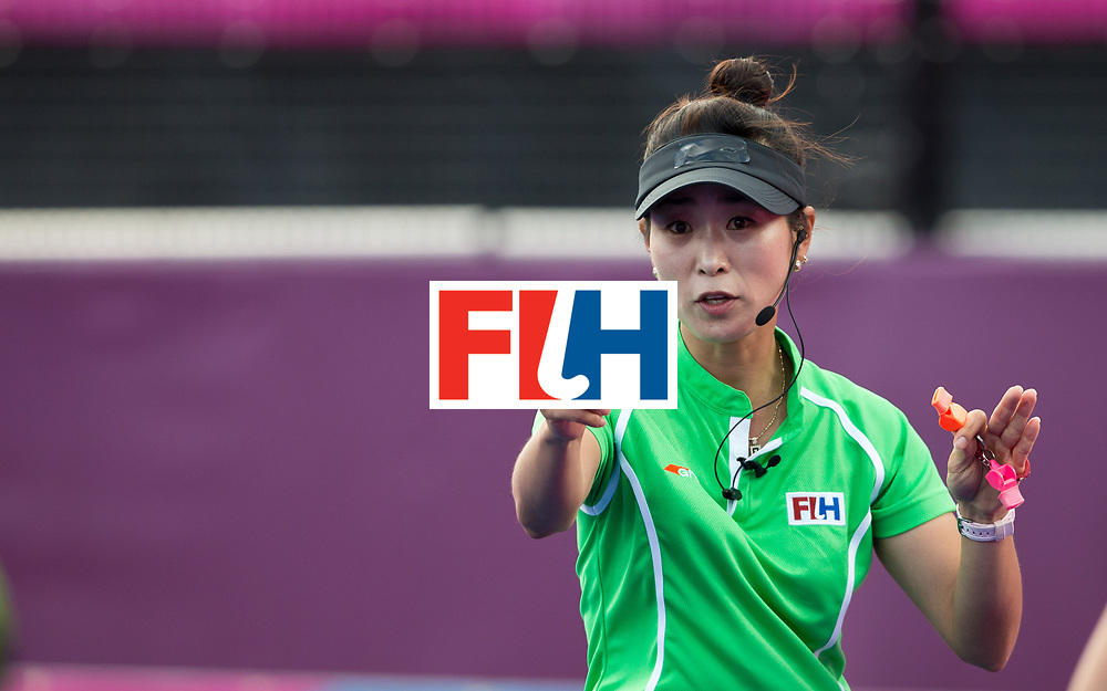 London Olympics 02/08/2012.Women's Hockey Germany v South Africa.Umpire Hy Kang ..Photo: Grant Treeby