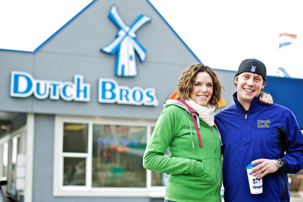 Brandi Berline and her fiance Jeff Buller manage the Dutch Brothers Coffee on Hanely Avenue in Coeur d'Alene.
