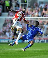 Photo: Tony Oudot/Richard Lane Photography. Stoke City v Chelsea. Barclays Premier League. 27/09/2008. <br /> Mamady Sidibe of Stoke is challenged by John Obi Mikel of Chelsea