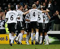Photo: Steve Bond/Sportsbeat Images.<br /> Derby County v Blackburn Rovers. The FA Barclays Premiership. 30/12/2007. Matt Oakley celebrates