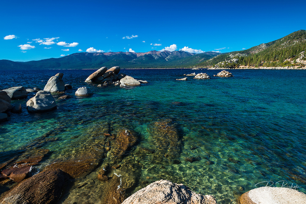 Boulders and cove at Sand Harbor State Park, Lake Tahoe, Nevada, USA