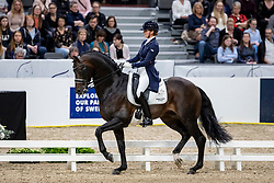 SCHOLTENS Emmelie (NED), Apache<br /> Göteborg - Gothenburg Horse Show 2019 <br /> FEI Dressage World Cup™ Final I<br /> Int. dressage competition - Grand Prix de Dressage<br /> Longines FEI Jumping World Cup™ Final and FEI Dressage World Cup™ Final<br /> 05. April 2019<br /> © www.sportfotos-lafrentz.de/Stefan Lafrentz