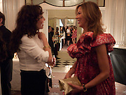 MARIE HELVIN; HEATHER KERZNER, Dinner to mark 50 years with Vogue for David Bailey, hosted by Alexandra Shulman. Claridge's. London. 11 May 2010 *** Local Caption *** -DO NOT ARCHIVE-© Copyright Photograph by Dafydd Jones. 248 Clapham Rd. London SW9 0PZ. Tel 0207 820 0771. www.dafjones.com.<br /> MARIE HELVIN; HEATHER KERZNER, Dinner to mark 50 years with Vogue for David Bailey, hosted by Alexandra Shulman. Claridge's. London. 11 May 2010