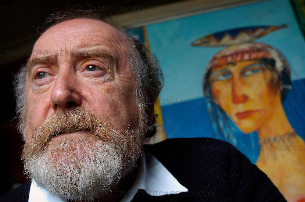 Portrait session with Scottish artist John Bellany at his home in Edinburgh.