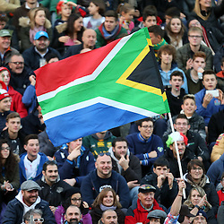 PADUA, ITALY - NOVEMBER 22: GV of a South African flag during the Castle Lager Outgoing Tour match between Italy and South African at Stadio Euganeo on November 22, 2014 in Padua, Italy. (Photo by Steve Haag/Gallo Images)