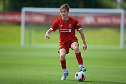 KIRKBY, ENGLAND - Saturday, August 31, 2019: Liverpool's James Norris during the Under-18 FA Premier League match between Liverpool FC and Manchester United at the Liverpool Academy. (Pic by David Rawcliffe/Propaganda)