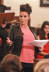 Not for UK papers.. pic shows Katie Price speaking at the Cambridge Union Society on Thursday March 7th, 2013. Photo by John Jarman / Cambridge Union / i-Images...Contact..Andrew Parsons: 00447545 311662.Stephen Lock: 00447860204379