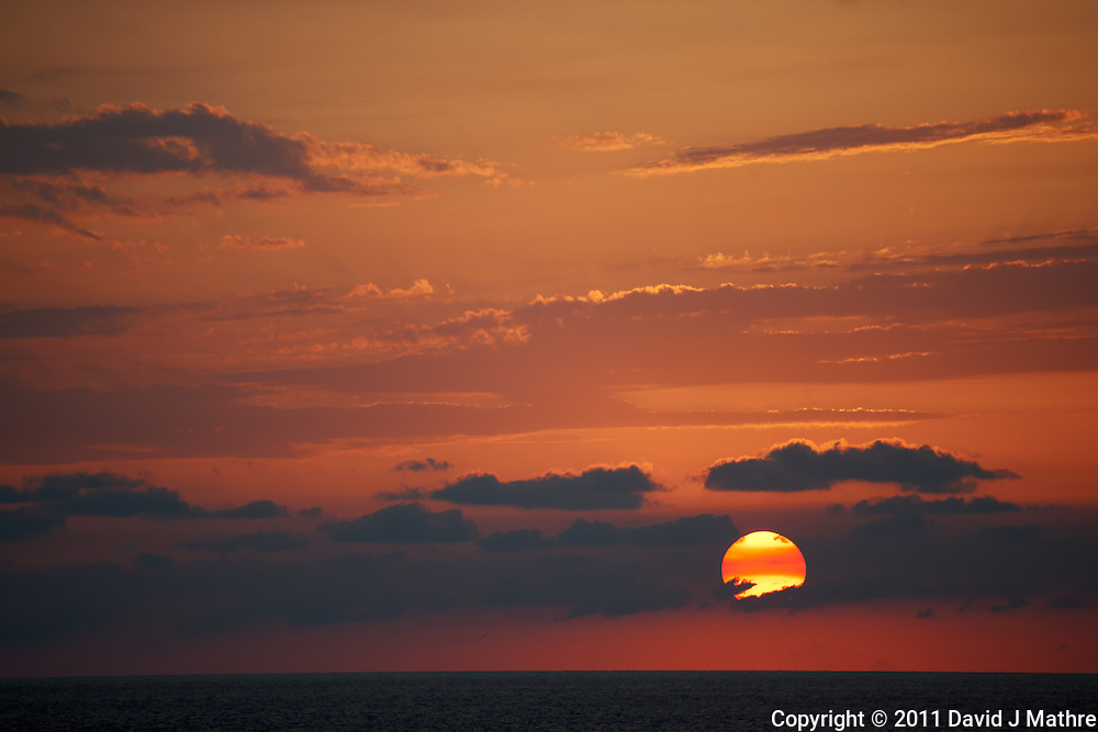 Sunset over the Caribbean on the Semester at Sea M/V Explorer. Image taken with a Nikon D3x and 70-300 mm VR lens (ISO 320, 300 mm, f/5.6, 1/250 sec)
