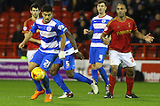 QPR midfielder Massimo Luongo wins the ball in midfield during the Sky Bet Championship match between Nottingham Forest and Queens Park Rangers at the City Ground, Nottingham, England on 26 January 2016. Photo by Aaron Lupton.