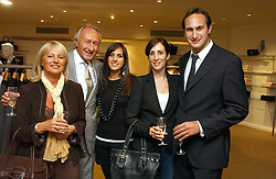 Left to right, HAROLD & STEPHANIE TILLMAN, MEREDITH TILLMAN, NICOLE FRANKEL and her fiance MITCH TILLMAN - the Tillman family own Jaeger at an exhibition of photographs entitled 'Hispanic in Hollywood' at Jaeger's Flagship store 200 Regent Street, London on 30th August 2006.<br /><br />NON EXCLUSIVE - WORLD RIGHTS