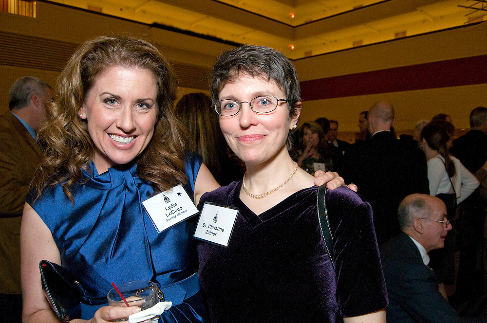 Lydia Lococ (left) and Dr. Christine Zainer enjoy cocktails before dinner at the Annual Rectors Dinner at the Hyatt, Milwaukee, Wisconsin on October 4, 2008.