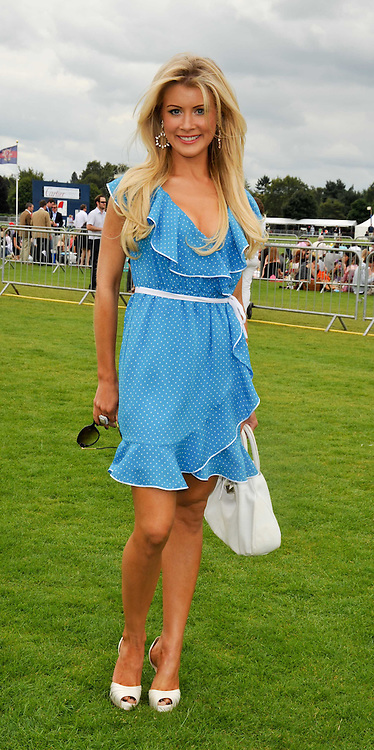 KATIE JAMES at the 25th annual Cartier International Polo held at Guards Polo Club, Great Windsor Park, Berkshire on 26th July 2009.