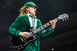 September 9, 2016 - Auburn Hills, Michigan, U.S - ANGUS YOUNG of AC/DC performing on the Rock or Bust World Tour at the Palace of Auburn Hills in Auburn Hills, MI on September 9th 2016 (Credit Image: © Marc Nader/ZUMA Wire)