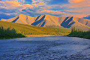 Ogilvie River and Ogilvie Mountains on the Dempster Highway near Elephant Rock (KM 220)<br /> Dempster Highway<br /> Yukon<br /> Canada