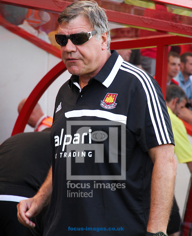 Picture by Tom Smith/Focus Images Ltd 07545141164<br /> 13/07/2013<br /> Sam Allardyce, Manager of West Ham United during the Stephen Purches testimonial pre season friendly match at the Seward Stadium, Bournemouth.