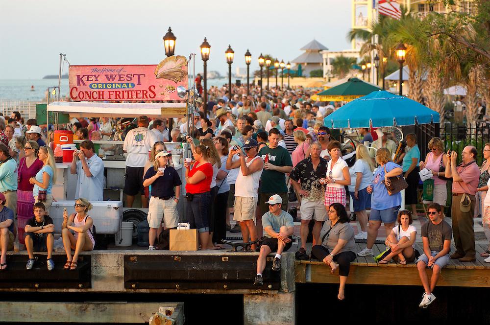 Sunset Celebration at Mallory Square, Waterfront, Key West, Florida Keys, Florida, United States of America