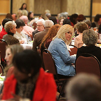 Attendees of the NEWMS Women of Distinction Luncheon gather at the BancorpSouth Conference Center Thursday. NEWMS, a special project of the CREATE Foundation honored PattyTucker, Shawn Brevard, Netti Davis, Juanita Floyd and Kay Matthews for their community contributions in a diverse list of charitable and civic duties. NEWMS is a special project of the CREATE Foundation.