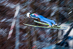 06.01.2015, Paul Ausserleitner Schanze, Bischofshofen, AUT, FIS Ski Sprung Weltcup, 63. Vierschanzentournee, Probedurchgang, im Bild Rok Justin (SLO) // Rok Justin of Slovenia soars trought the air during his Trial Jump for the 63rd Four Hills Tournament of FIS Ski Jumping World Cup at the Paul Ausserleitner Schanze, Bischofshofen, Austria on 2015/01/06. EXPA Pictures © 2015, PhotoCredit: EXPA/ Johann Groder
