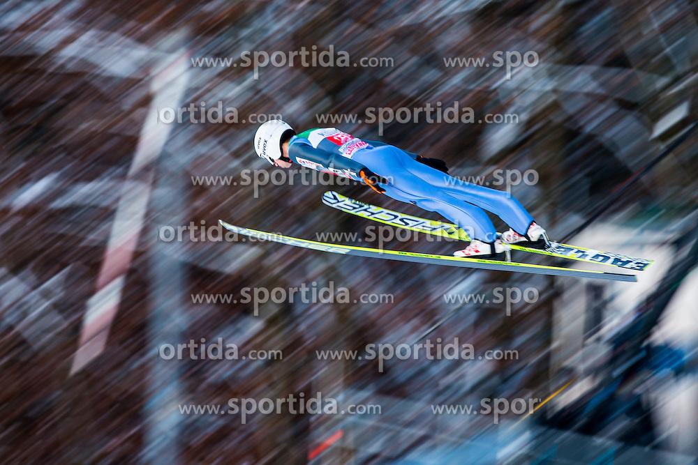 06.01.2015, Paul Ausserleitner Schanze, Bischofshofen, AUT, FIS Ski Sprung Weltcup, 63. Vierschanzentournee, Probedurchgang, im Bild Rok Justin (SLO) // Rok Justin of Slovenia soars trought the air during his Trial Jump for the 63rd Four Hills Tournament of FIS Ski Jumping World Cup at the Paul Ausserleitner Schanze, Bischofshofen, Austria on 2015/01/06. EXPA Pictures © 2015, PhotoCredit: EXPA/ Johann Groder