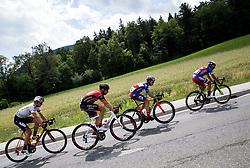 Maximilian Kuen (AUT) of Tirol Cycling Team, Matej Mugerli (SLO) of Amplatz - BMC, Ziga Groselj (SLO) of KK Adria Mobil, Matteo Rabottini (ITA) of Meridiana Kamen Team  during Stage 3 of 24th Tour of Slovenia 2017 / Tour de Slovenie from Celje to Rogla (167,7 km) cycling race on June 16, 2017 in Slovenia. Photo by Vid Ponikvar / Sportida